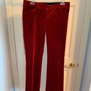 WORN ONLY ONCE! Womens Cranberry Velveteen pants